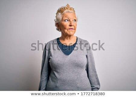 empresária · rainha · isolado · branco · trabalhar · empresário - foto stock © elnur
