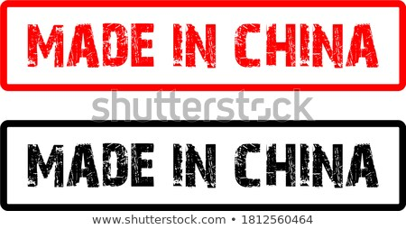 made in europe   inscription on red rubber stamp stock photo © tashatuvango
