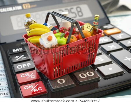 Basket of groceries and calculator Stock photo © monkey_business
