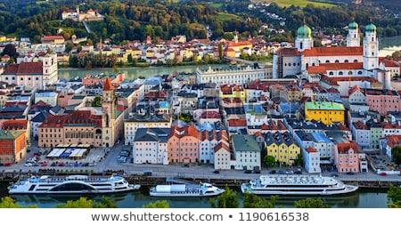 Vista Alemania río posada verano agua Foto stock © w20er