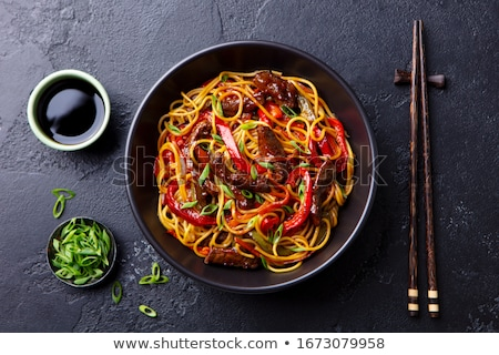 stir fry beef and noodles Stock photo © M-studio