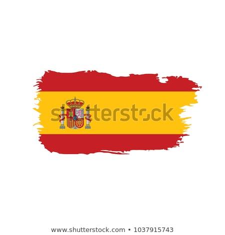 Espanha grunge bandeira fundo pintura ferrugem Foto stock © almir1968