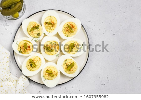 Huevo mayonesa alimentos saludable buffet restauración Foto stock © M-studio