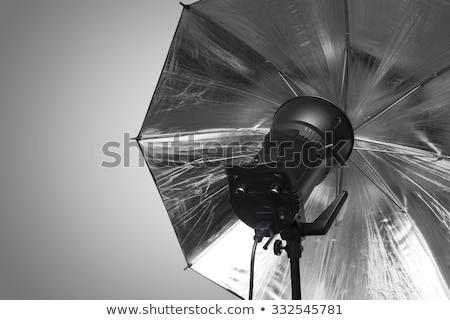 Fotografia estúdio flash cabeça guarda-chuva escuro Foto stock © stevanovicigor