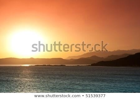 ストックフォト: 半島 · 風景 · 日の出 · ビーチ · 春 · 太陽
