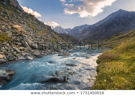 Mountain river against the sky Stock photo © entazist
