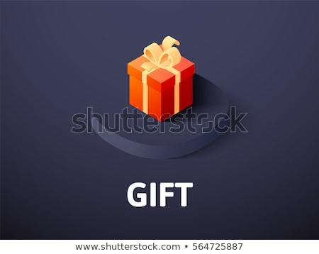 isometric vector gift box icon stock photo © maximmmmum