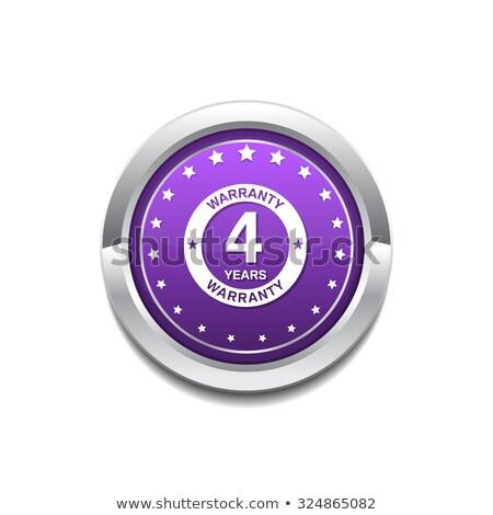 лет гарантия Purple вектора икона кнопки Сток-фото © rizwanali3d