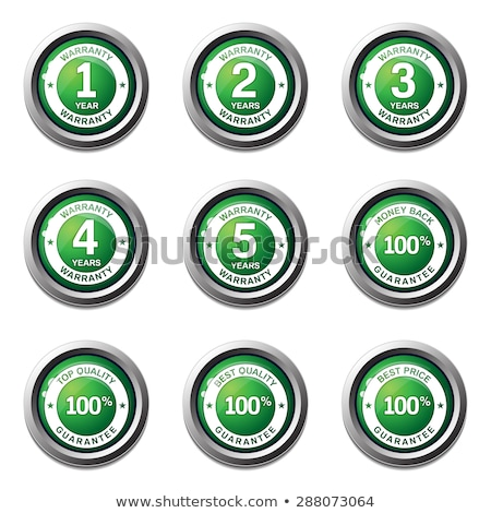Jahre Garantie grünen Vektor Symbol Taste Stock foto © rizwanali3d