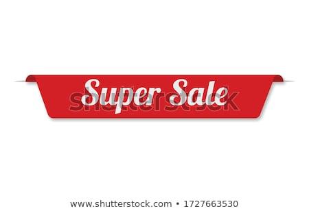 szuper · ajánlat · piros · vektor · ikon · gomb - stock fotó © rizwanali3d