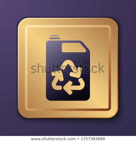 Környezetbarát arany vektor ikon gomb technológia Stock fotó © rizwanali3d