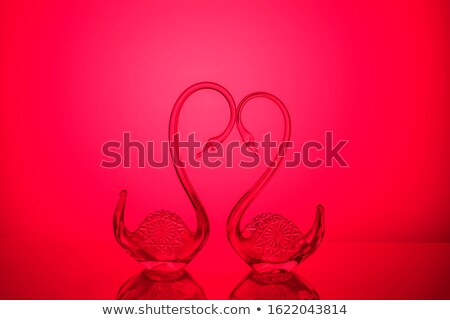 Verre cygne forme or lumière cristal Photo stock © ralanscott