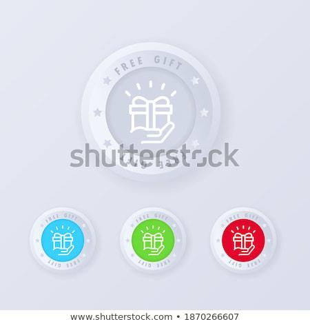 Bonus kırmızı vektör ikon düğme Internet Stok fotoğraf © rizwanali3d