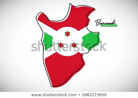 Foto stock: Burundi · bandeira · mapa · país · forma