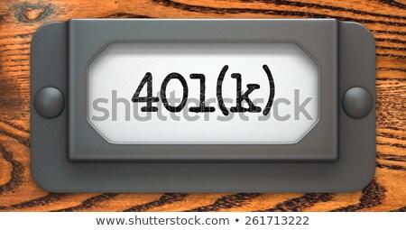 dossiers · étiquette · retraite · plan · pension · argent - photo stock © tashatuvango