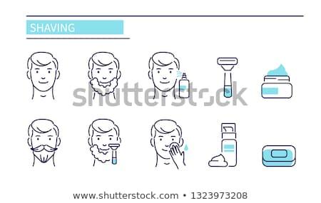 set for shaving vector illustration Stock photo © konturvid