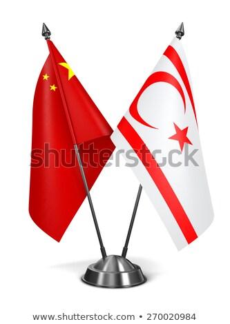 China and Turkish Republic Northern Cyprus - Miniature Flags. Stock photo © tashatuvango