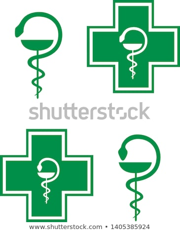 hospital health green vector button icon design set 2 stock photo © rizwanali3d
