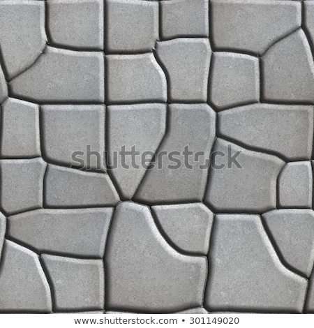 Gray Figured Paving Slabs of Different Value which Imitates Natural Stone. Stock photo © tashatuvango