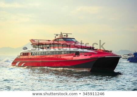 Hong Kong balsa barco barcos porto negócio Foto stock © joyr