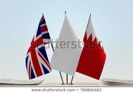 Büyük Britanya Bahreyn bayraklar bilmece yalıtılmış beyaz Stok fotoğraf © Istanbul2009