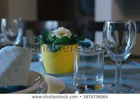 Banket tabel lege bril selectieve aandacht Stockfoto © amok