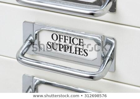 Lade kabinet label business kantoor Stockfoto © Zerbor