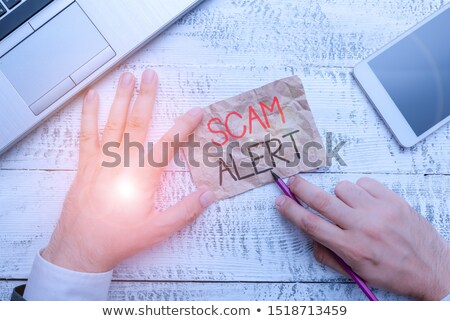 Hacking Word Means Security Theft And Hacked Stock photo © stuartmiles