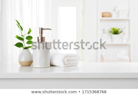 Közelkép lakberendezés könyvek keret fotók szó Stock fotó © bezikus
