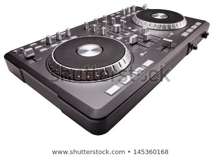 gramofon · duda · hangszóró · játszik · zene · tányérok - stock fotó © shutswis