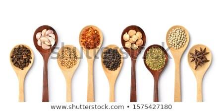 Orgânico secas coentro sementes isolado Foto stock © ziprashantzi