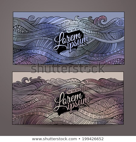 abstract vector decorative waves ornamental backgrounds series of image template frame design for c stock photo © heliburcka