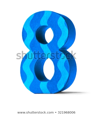 Colorful Paper Mache Number on a white background  - Number 83 Stock photo © Zerbor