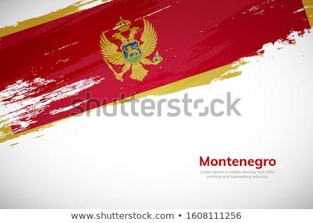 Montenegro land vlag kaart vorm tekst Stockfoto © tony4urban