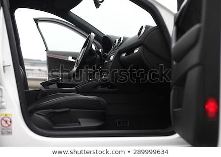 Auto interieur stuur Open deur sport technologie Stockfoto © jordanrusev