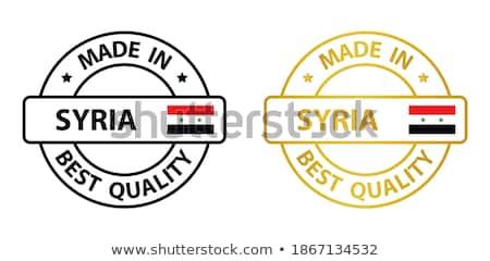 Szíria vidék zászló térkép forma szöveg Stock fotó © tony4urban