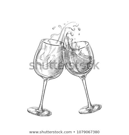 hand drawn wine label stock photo © netkov1