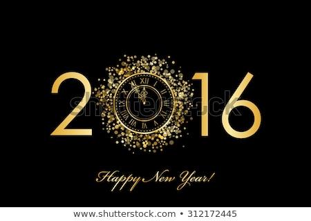 с Новым годом 2016 черный золото праздник празднования Сток-фото © vlad_star