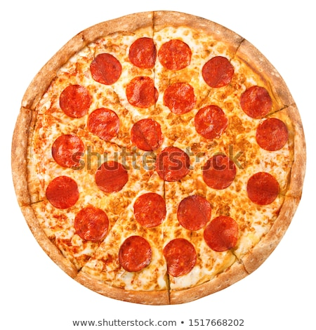 Pizza pepperoni bianco italiana mangiare pranzo Foto d'archivio © fanfo