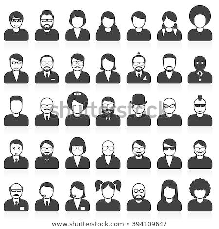 Oameni diferit stil coafura faţă bărbaţi Imagine de stoc © Winner