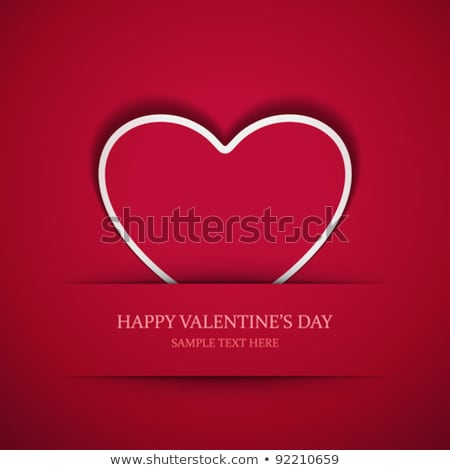 Romantic Valentine card with heart. EPS 10 Stock photo © beholdereye