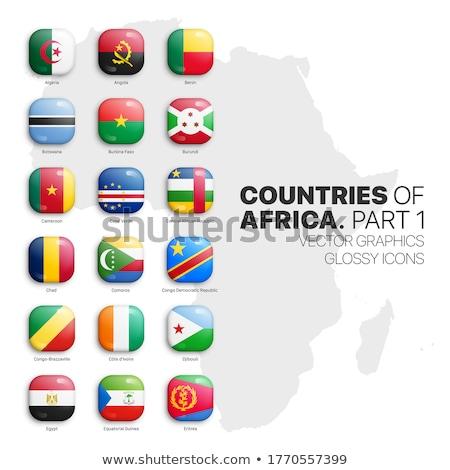 Vierkante icon vlag Botswana 3d illustration geïsoleerd Stockfoto © MikhailMishchenko