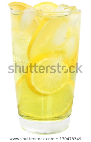 Foto stock: Vidro · limonada · gelado · vermelho · groselha · fruto