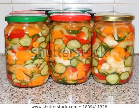 Kolorowy papryka domu organiczny pikantny Zdjęcia stock © lincolnrogers