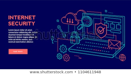 Photo stock: Flat Internet Security Concept Set