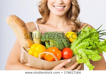 Dieta sana bella giovani rosso Foto d'archivio © lithian