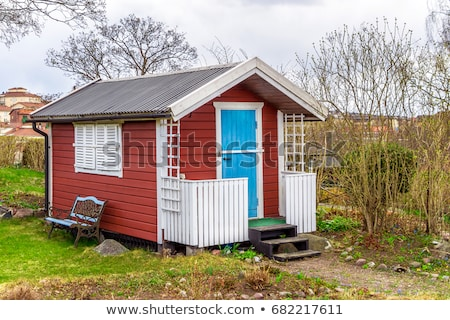 Wooden shed, house or Shack Stock photo © Klinker