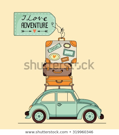 cartoon car background with place for your text stock photo © kariiika