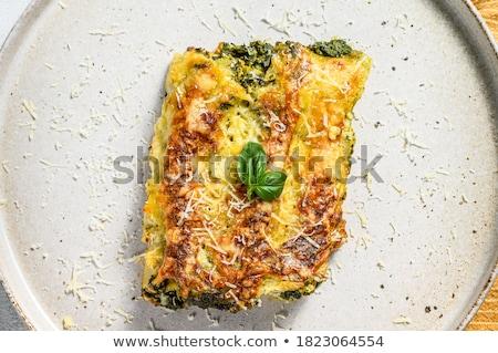 Doldurulmuş makarna beyaz gıda peynir beyaz arka plan Stok fotoğraf © Digifoodstock