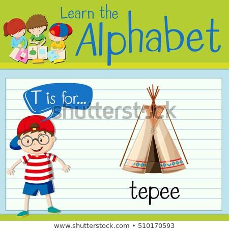 T betű gyerekek gyermek háttér művészet oktatás Stock fotó © bluering